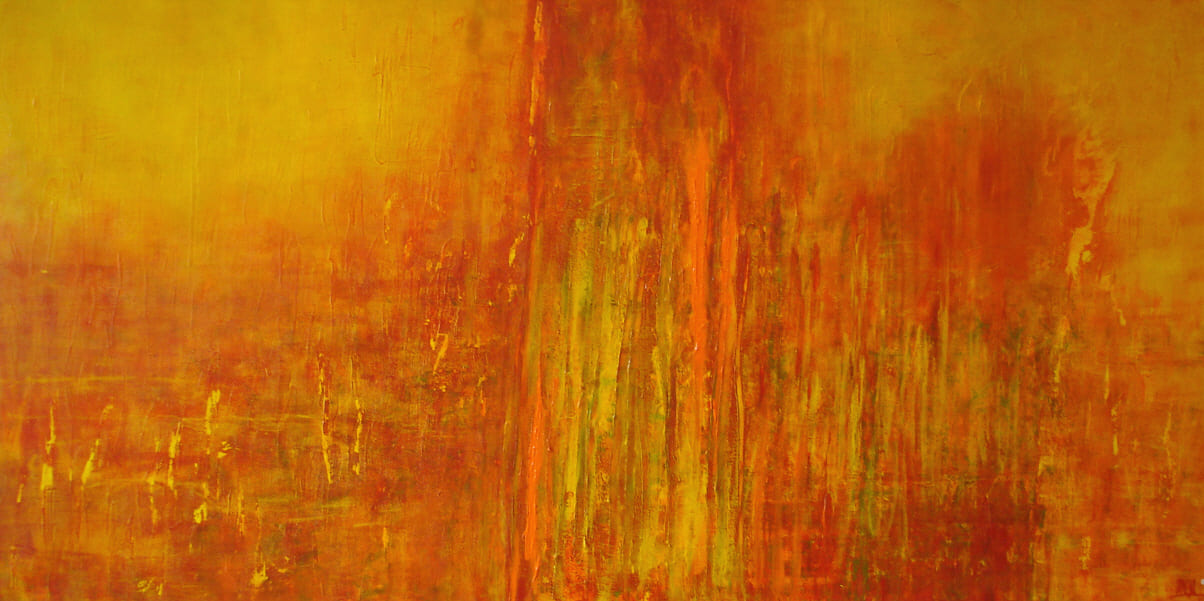 fan the fires - Acryl auf Leinwand / 200 x 100 cm